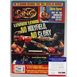Lennox Lewis Signed 1998 Ring Magazine (PSA COA)