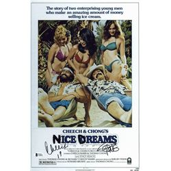 "Cheech Marin  Tommy Chong Signed ""Nice Dreams"" 11x17 Photo Inscribed ""17"" (Beckett Hologram)"