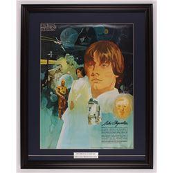 Vintage 1977 Coca Cola Star Wars 24.5x30.5 Custom Framed Poster Display