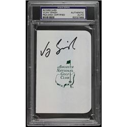 Vijay Singh Signed Augusta National Golf Club Scorecard (PSA Encapsulated)