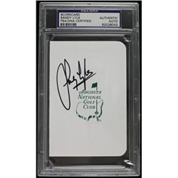 Sandy Lyle Signed Augusta National Golf Club Scorecard (PSA Encapsulated)