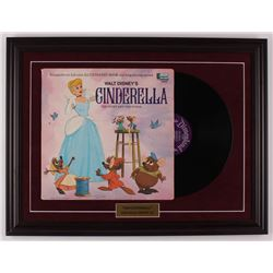 "Walt Disney's ""Cinderella"" 18.5x24.5 Custom Framed 1969 Vinyl Record Album Display"