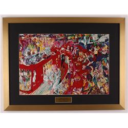 "LeRoy Neiman ""The 21 Club New York City"" 19x25 Custom Framed Print Display"