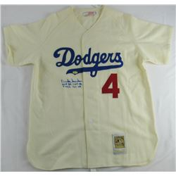 "Duke Snider Signed Dodgers Jersey Inscribed ""HOF 80"", ""11 WS HR"", ""7 ASG""  ""407 HR"" (JSA COA)"