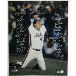 1986 New York Mets 16x20 Photo Team-Signed by (23) with Gary Carter, Dwight Gooden, Dave Magadan, Ra