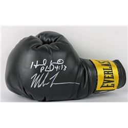 Mike Tyson  Evander Holyfield Signed Everlast Boxing Glove (PSA COA)