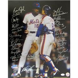 1986 New York Mets 16x20 Photo Team-Signed by (28) with Dwight Gooden, Darryl Strawberry, Tim Teufel