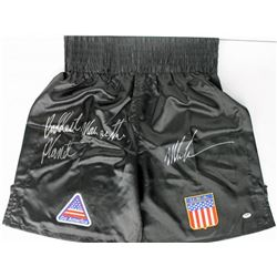 "Mike Tyson Signed Team USA Boxing Trunks Inscribed ""Baddest Man Nn The Planet""  (PSA COA)"