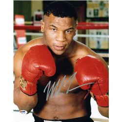 Mike Tyson Signed 11x14 Photo (PSA COA)