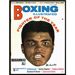 Muhammad Ali Signed 1971 Boxing Illustrated Magazine (Beckett LOA)