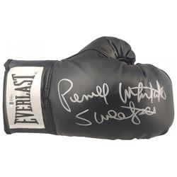 """Pernell Whitaker Signed Everlast Boxing Glove Inscribed """"Sweet Pea"""" (Beckett COA)"""