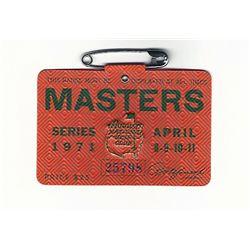 1971 Masters Augusta National Golf Club Badge Ticket