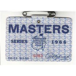 1966 Masters Augusta National Golf Club Badge Ticket