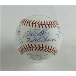 1986 New York Mets World Series Champions OML Baseball Team-Signed by (24) with Lenny Dykstra, Darry
