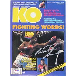 Riddick Bowe Signed 1993 Knockout Boxing Magazine (PSA COA)