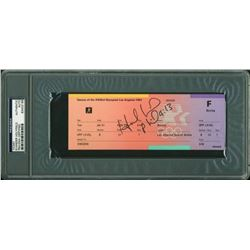 Evander Holyfield Signed 1984 Summer Olympics Boxing Ticket (PSA Encapsulated)