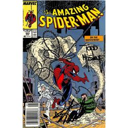 """Stan Lee  Todd McFarlane Signed 1988 """"The Amazing Spider-Man"""" #303 Marvel Comic Book (Beckett Hologr"""