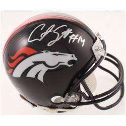 Courtland Sutton Signed Broncos Mini-Helmet (Beckett COA)