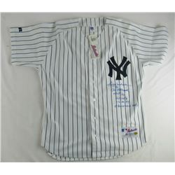 Reggie Jackson Signed Yankees Jersey with Multiple Career Highlight Stat Inscriptions (JSA COA  Jack