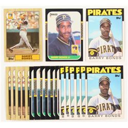 Lot of (20) Barry Bonds Rookie Baseball Cards with (6) 1987 Topps #320 RC, (7) 1986 Topps Traded #11