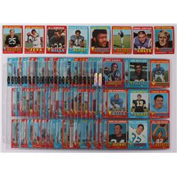 1971 Topps Complete Set of (263) Football Cards with #1 Johnny Unitas, #260 O.J.Simpson, #150 Gale S