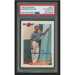Mariano Rivera Signed 1992 Bowman #302 RC (PSA Encapsulated)