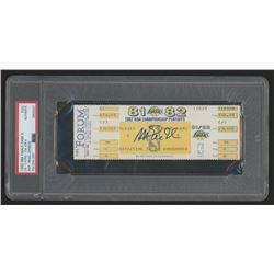 Magic Johnson Signed 1982 NBA Final Game 6 Ticket (PSA Encapsulated)