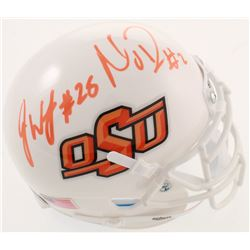 Mason Rudolph  James Washington Signed Oklahoma State Cowboys Mini Helmet (JSA COA)