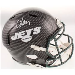 C.J. Mosley Signed Jets Full-Size Hydro-Dipped Speed Helmet (JSA COA)