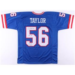 "Lawrence Taylor Signed Jersey Inscribed ""HOF 99""  ""2x SB Champs"" (PSA COA)"