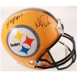 James Washington  Mason Rudolph Signed Steelers Full-Size Helmet (JSA COA)