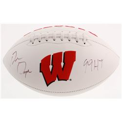"Ron Dayne Signed Wisconsin Badgers Logo Football Inscribed ""99 HT"" (JSA COA)"