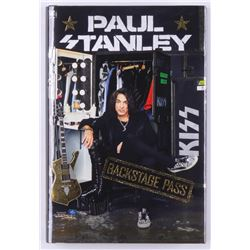 "Paul Stanley Signed ""Backstage Pass"" Hardcover Book (JSA COA)"