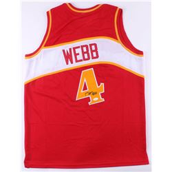 Spud Webb Signed Jersey (JSA COA)