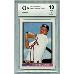 1991 Bowman #569 Chipper Jones RC (BCCG 10)