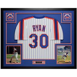Nolan Ryan Signed 35x43 Custom Framed Jersey (Beckett COA)
