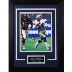 Deion Sanders Signed Dallas Cowboys 14x18.5 Custom Framed Photo (JSA COA)