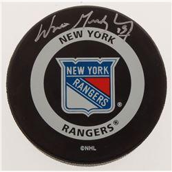 Wayne Gretzky Signed Rangers Logo Hockey Puck (Gretzky COA)