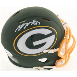 Davante Adams Signed Packers AMP Alternate Speed Mini Helmet (JSA COA)