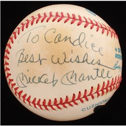 "Mickey Mantle Signed OAL Baseball Inscribed ""Best Wishes"" (UDA Hologram)"