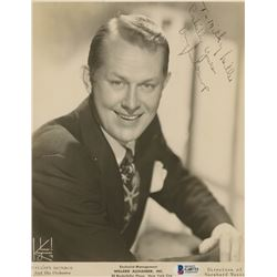 "Vaughn Monroe Signed 8x10 Photo Inscribed ""Cordially Yours"" (Beckett COA)"