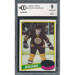 Ray Bourque 1980-81 Topps #140 RC (BCCG 9)