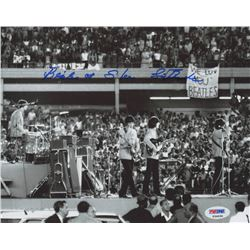 "Sid Bernstein Signed 8x10 Photo Inscribed ""Beatles at Shea"" (PSA COA)"