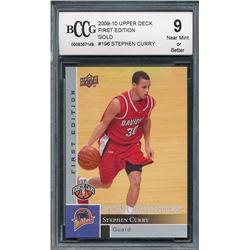 Stephen Curry 2009-10 Upper Deck First Edition #196 RC (BCCG 9)