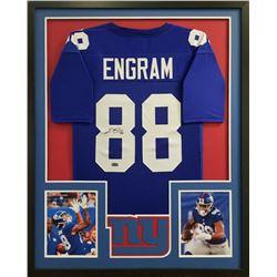 Evan Engram Signed 34x42 Custom Framed Jersey (Radtke COA)
