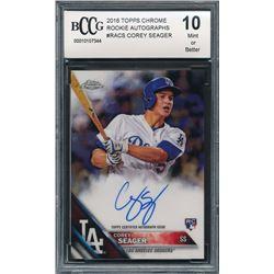 2016 Topps Authentics 8x10 Autographs #RACS Corey Seager / '16 Topps Chrome (BCCG 10)