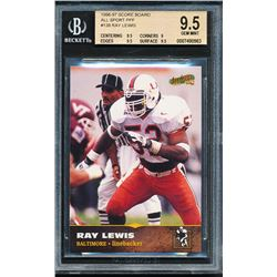 Ray Lewis 1996-97 Score Board All Sport PPF #139 (BGS 9.5)