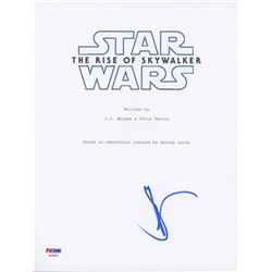 "J.J. Abrams Signed ""Star Wars: The Rise of Skywalker"" 8.5x11 Movie Script Cover (PSA COA)"