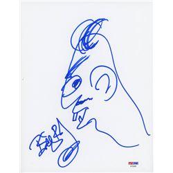 Billy Bob Thornton Signed 8.5x11 Hand-Drawn Sketch (PSA COA)