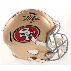Nick Bosa Signed 49ers Full-Size Speed Helmet (Beckett COA)
